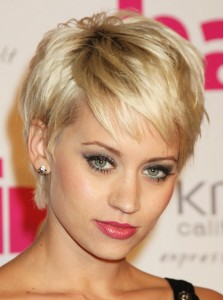 Short choppy bangs for fine hair - Kimberly Wyatt